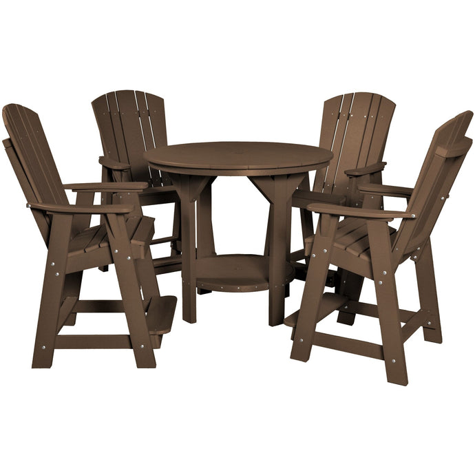 poly furniture counter and bar height dining set table and chairs poly resin outdoor patio furniture duraweather