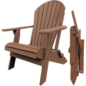 DuraWeather Poly® King Size Folding Adirondack Chair (Fireside Cedar)