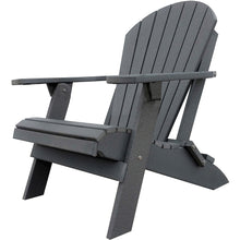 Load image into Gallery viewer, DuraWeather Poly® King Size Folding Adirondack Chair - (Charcoal Grey)