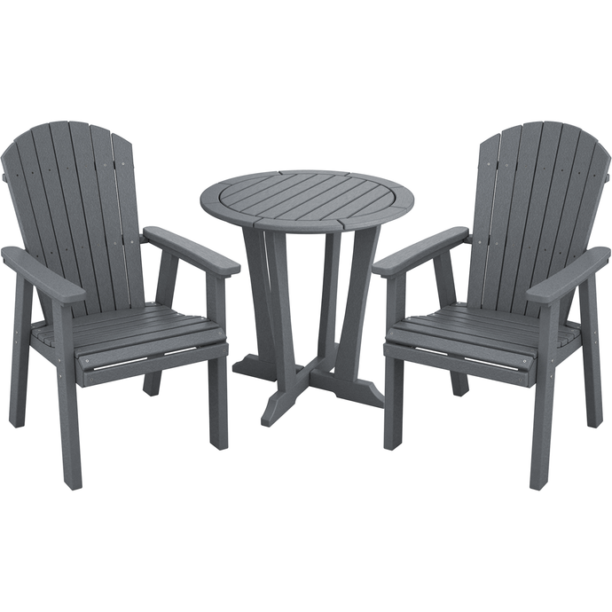 DuraWeather Poly® 3 pc. 30''Rd Classic Adirondack Bistro Set