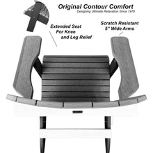 Load image into Gallery viewer, New! DuraWeather Poly® King Size Folding Adirondack Chair - Signature Collection
