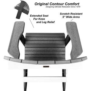 New! Set of 8 - DuraWeather Poly® Signature Collection King Size Folding Adirondack Chair