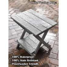 "Load image into Gallery viewer, DuraWeather Poly® Folding Deluxe End Table w/ Removable Tray - (21""L x 14""W x  21""H inches) Ships Fully Assembled"
