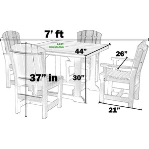poly furniture dining set table and chairs poly resin lumber outdoor patio furniture duraweather