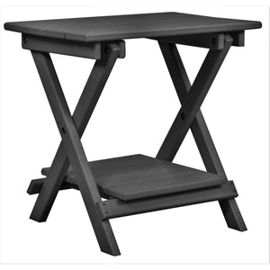 "DuraWeather Poly® Folding Deluxe End Table w/ Removable Tray - (21""L x 14""W x  21""H inches) Ships Fully Assembled"