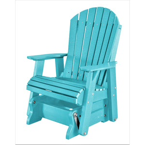 poly wood porch rocker glider outdoor single adirondack chair duraweather
