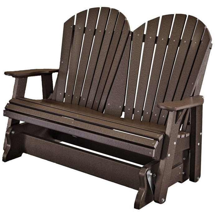 outdoor double glider rocker duraweather polywood allweather rustic furniture