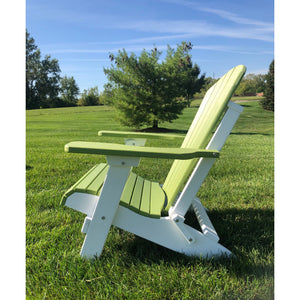 Set of 4 - DuraWeather Poly® Classic King Size Folding Adirondack Chairs