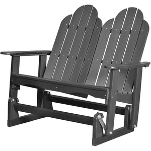 DuraWeather Poly® Traditional Adirondack Loveseat Double Glider