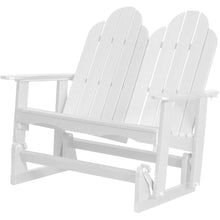 Load image into Gallery viewer, DuraWeather Poly® Traditional Adirondack Loveseat Double Glider