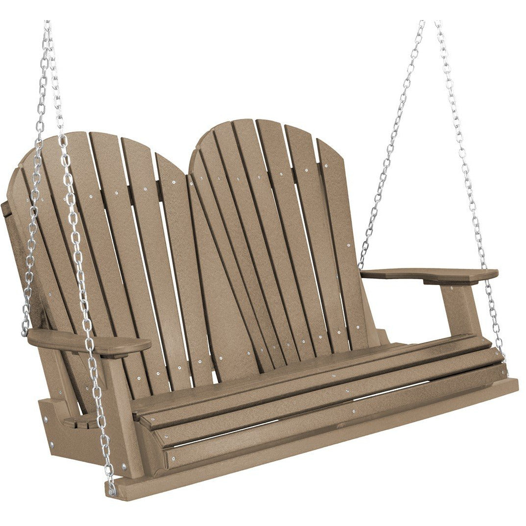 DuraWeather Poly®  4-1/2' ft Adirondack Porch Swing