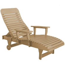Load image into Gallery viewer, DuraWeather Poly® Chaise Lounge With Wheels And Adjustable Back