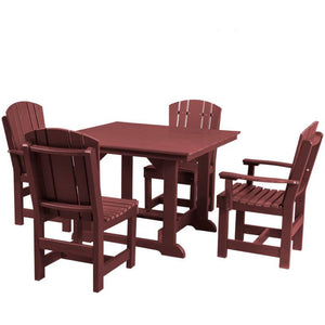 "DuraWeather Poly® 5 pc. Plantation Dining Set (44""sq. Table)"