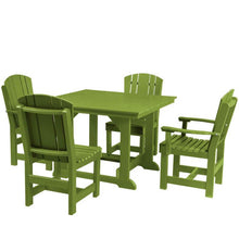 "Load image into Gallery viewer, DuraWeather Poly® 5 pc. Plantation Dining Set (44""sq. Table)"