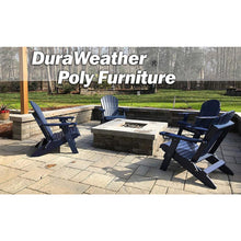 Load image into Gallery viewer, DuraWeather Poly® King Size Folding Adirondack Chair with Built-in Cup Holders - (Charcoal Grey)