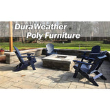 DuraWeather Poly® King Size Folding Adirondack Chair with Built-in Cup Holders - (Charcoal Grey)