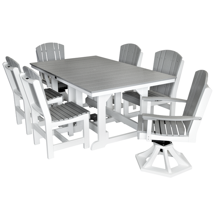 DuraWeather Poly® 7 pc. Plantation Dining Table Set With Two Swivel Rockers