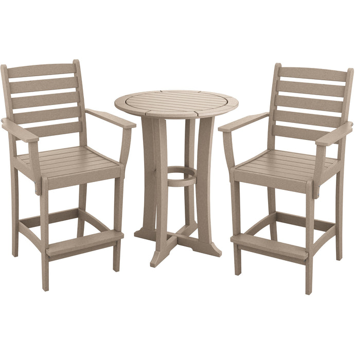 DuraWeather Poly® 3 pc. Counter Height Countryside Bistro Set