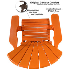 Load image into Gallery viewer, DuraWeather Poly® King Size Folding Adirondack Chair - (Mango Orange)