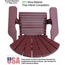 Load image into Gallery viewer, DuraWeather Poly® King Size Folding Adirondack Chair - (Merlot Burgundy)