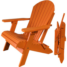Load image into Gallery viewer, DuraWeather Poly® King Size Folding Adirondack Chair - Exclusive Wood Grain Poly-resin (Quick Ship)