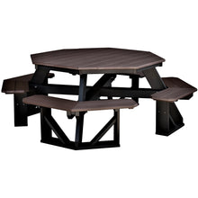 "Load image into Gallery viewer, DuraWeather Poly® Octagon Picnic Table (7'3""' x 4'6"" ft) Driftwood Grey on White"