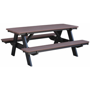 outdoor picnic table poly resin lumber all-weather outdoor patio furniture duraweather