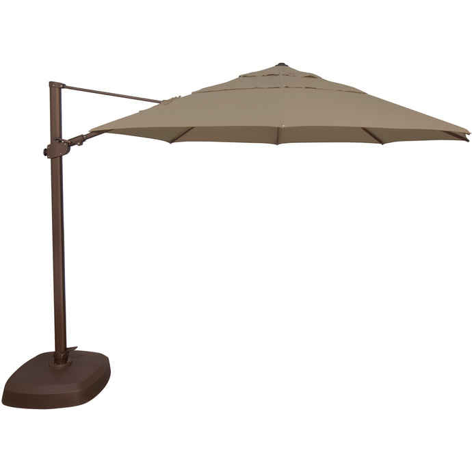 DuraWeather® Bermuda 11.5' Octagon Cantilever Umbrella (14 Colors) Quick Shipping