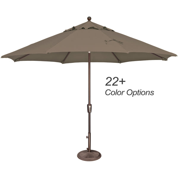 DuraWeather® 11' Push Button Tilt Octagon Umbrella (Over 22 Colors!) Quick Ship: 3-5 Business Days