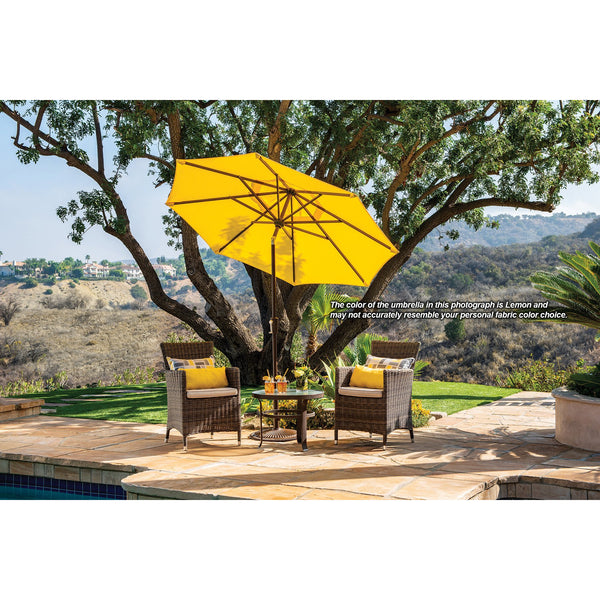 DuraWeather® 7.5' Push Button Tilt Octagon Umbrella (Over 22 Colors!) Ships in 3-5 Business Days