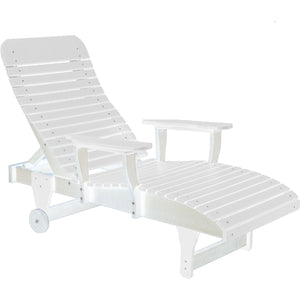 duraweather polywood white adjustable chaise lounge with wheels