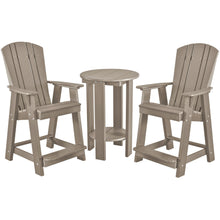 Load image into Gallery viewer, polywood furniture, patio furniture, bistro set, counter chairs, counter table set, poly resin furniture, polywood, duraweather poly, berlin gardens, sister bay furniture, recycled furniture, poly furniture, poly, outdoor furniture