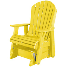 Load image into Gallery viewer, DuraWeather Poly® Classic Adirondack Loveseat Glider With Built In Tete-a-Tete Table Top With Umbrella Hole