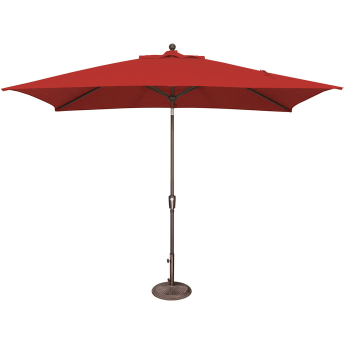 DuraWeather® 6.6' x 10' Rectangular Push Button Tilt Umbrella