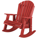 DuraWeather Poly® Adirondack Porch Rockers with Two Tier End Table