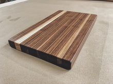 Load image into Gallery viewer, Harvest Cutting Board - Walnut - Ebony & White Design
