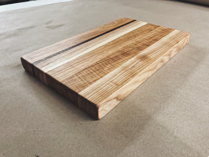 Harvest Cutting Board - Ash - Ebony & White Design