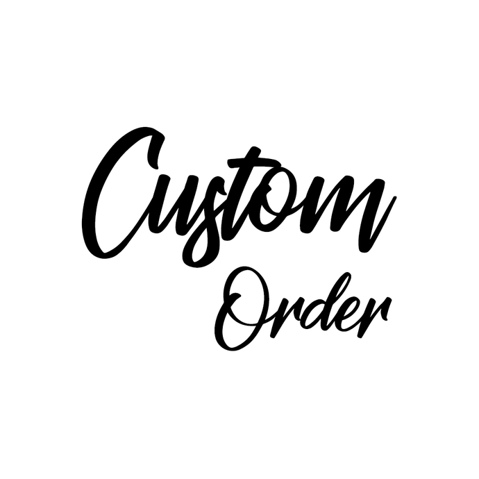 Alyssa Gors - Custom Sign - Ebony & White Design