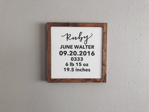 Newborn Details - Ebony & White Design