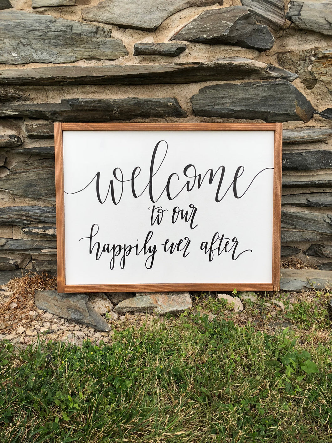 Welcome to Our Happily Ever After - Ebony & White Design