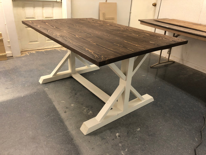 Classic X Dining Table - Ebony & White Design