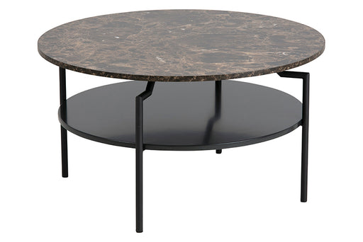 Goldington | Table basse | Noir et marbre brun