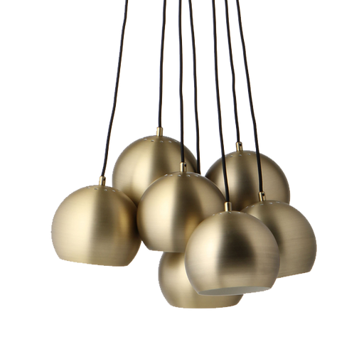 Multi Ball Pendant | Brass and Noir