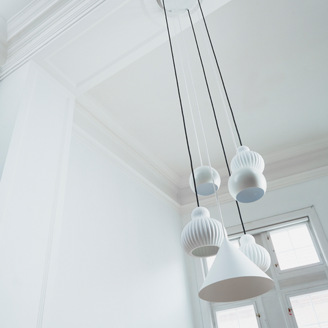 Canopy for 6 Pendants | Blanc