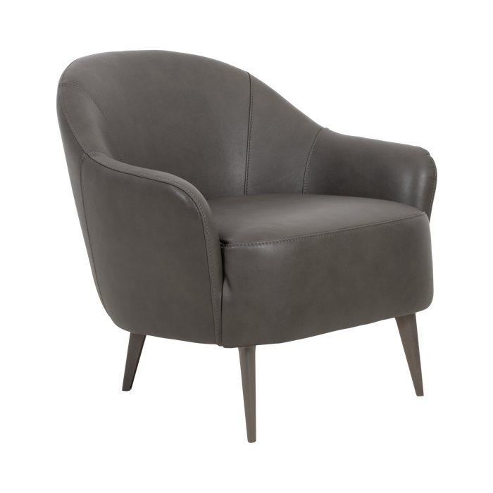 Fauteuil Lucy | Gris, Cuir