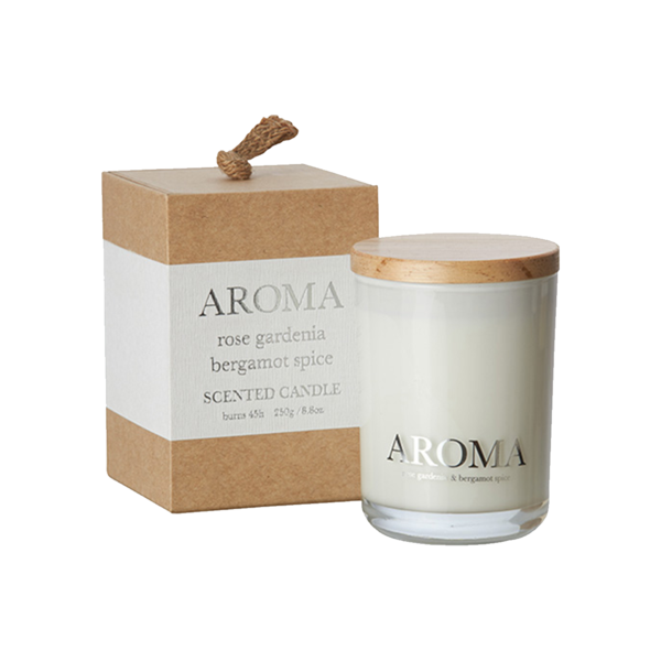 AROMA SCENTED CANDLE | ROSE, GARDÉNIA & BERGAMOTE