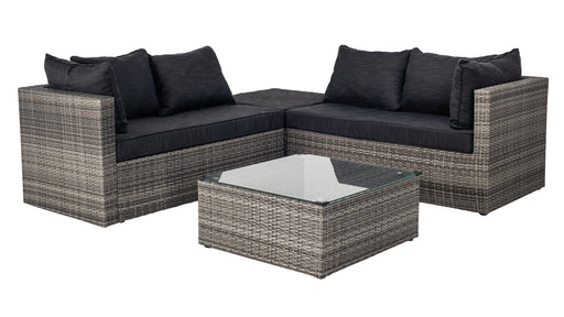 Bermuda set sofa et table | Gris & Noir