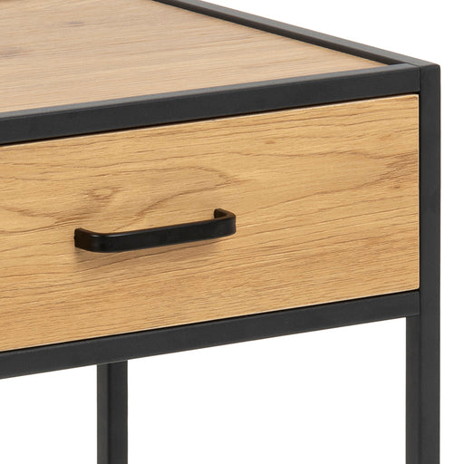 Seaford Table de chevet | Chêne et Metal