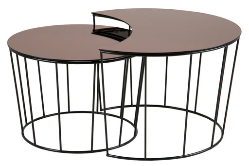 Sunmoon  | Set Table basse  | Verre bronze