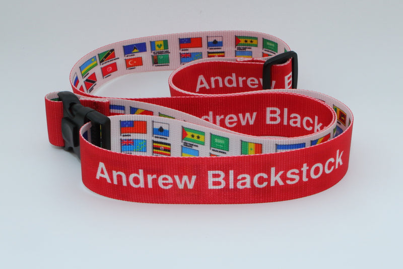 Rigid Personalised Luggage Straps